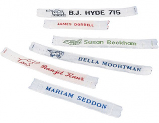 STITCH SCHOOL NAME TAGS